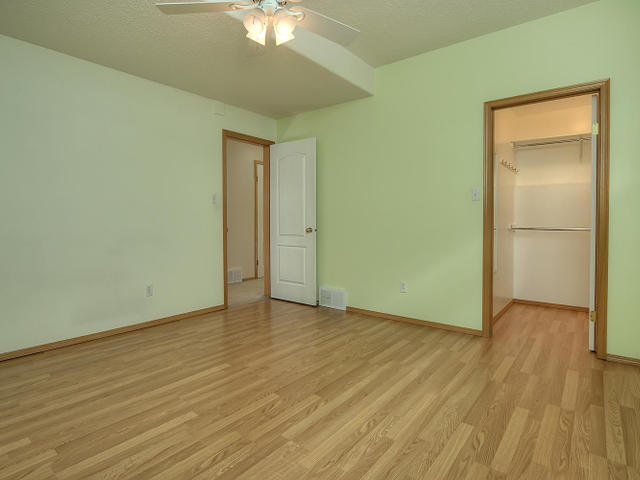 There is a walk in closet in the largest of the two bedrooms in the basement.